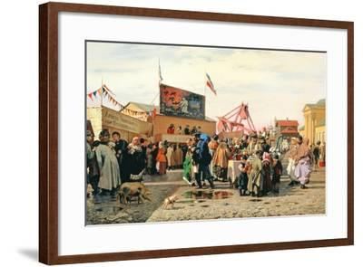 Stalls for Easter Week in Tula, 1868-Andrei Andreevich Popov-Framed Giclee Print