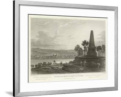 Neuweid and Monument of General La Hoche-William Tombleson-Framed Giclee Print