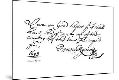 Brune Ryves--Mounted Giclee Print