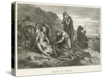 Death of Totila--Stretched Canvas Print