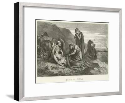Death of Totila--Framed Giclee Print