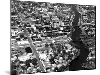 Fort Lauderdale Aerial View, 1932--Mounted Photographic Print