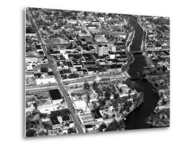 Fort Lauderdale Aerial View, 1932--Metal Print