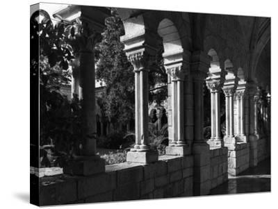 Spanish Monastery Cloister, C.1960--Stretched Canvas Print