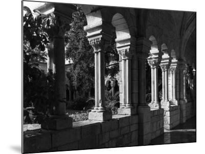 Spanish Monastery Cloister, C.1960--Mounted Photographic Print