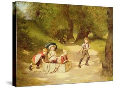 The Toy Carriage, 1887-Harry Brooker-Stretched Canvas Print