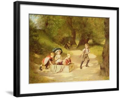 The Toy Carriage, 1887-Harry Brooker-Framed Giclee Print