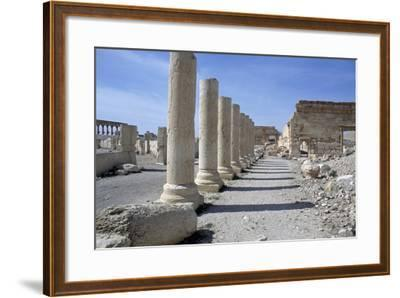 Ruins of Colonnade in Palmyra--Framed Photographic Print