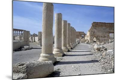 Ruins of Colonnade in Palmyra--Mounted Photographic Print