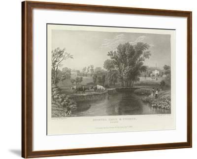 Stisted Hall and Church, Essex-William Henry Bartlett-Framed Giclee Print
