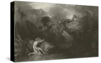 Apollo Killing the Python-J^ M^ W^ Turner-Stretched Canvas Print