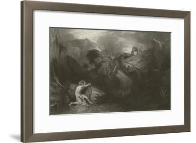 Apollo Killing the Python-J^ M^ W^ Turner-Framed Giclee Print