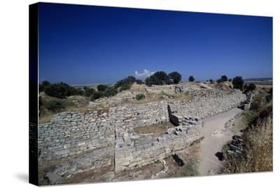 Ruins of Walls of Troy VI, Troy--Stretched Canvas Print