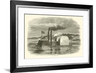 """Admiral Porter's """"Dummy"""", February 1863--Framed Giclee Print"""