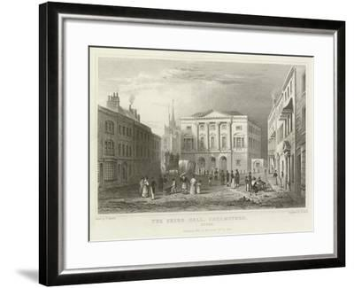 The Shire Hall, Chelmsford, Essex-William Henry Bartlett-Framed Giclee Print