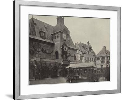 Town Hall in Old Vienna--Framed Photographic Print