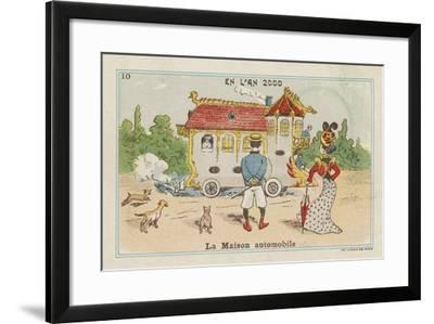 Mobile House in the Year 2000--Framed Giclee Print