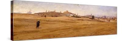 View of Desert with Dunes-Stefano Ussi-Stretched Canvas Print