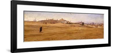 View of Desert with Dunes-Stefano Ussi-Framed Giclee Print