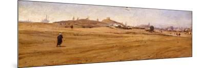 View of Desert with Dunes-Stefano Ussi-Mounted Giclee Print