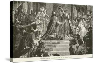 Coronation of Charlemagne, St Peter'S, Rome--Stretched Canvas Print
