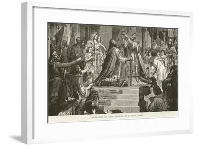Coronation of Charlemagne, St Peter'S, Rome--Framed Giclee Print