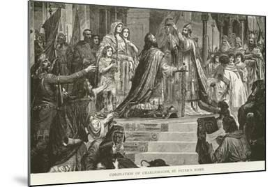 Coronation of Charlemagne, St Peter'S, Rome--Mounted Giclee Print
