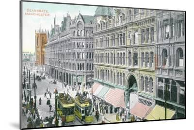 Deansgate, Manchester--Mounted Giclee Print