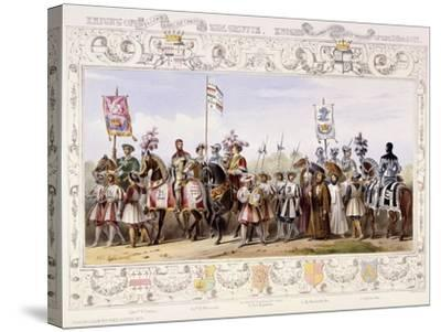 Procession to the Lists, 1843-James Henry Nixon-Stretched Canvas Print