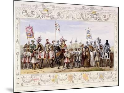 Procession to the Lists, 1843-James Henry Nixon-Mounted Giclee Print