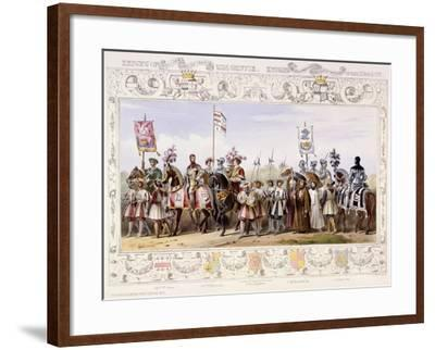 Procession to the Lists, 1843-James Henry Nixon-Framed Giclee Print