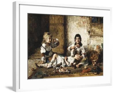 Happy Moments-Alexei Alexevich Harlamoff-Framed Giclee Print
