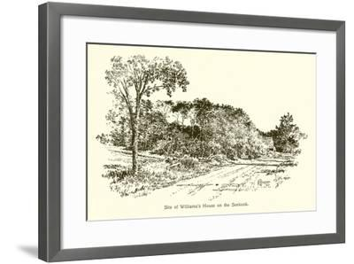 Site of Williams's House on the Seekonk--Framed Giclee Print