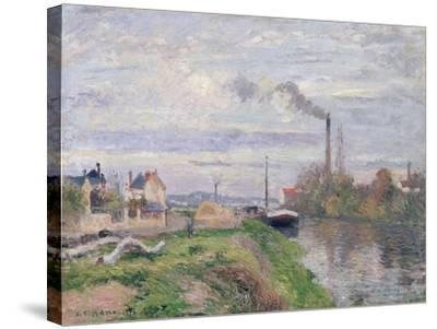 Quai Du Pothuis, at Pontoise, 1876-Camille Pissarro-Stretched Canvas Print