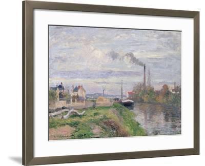Quai Du Pothuis, at Pontoise, 1876-Camille Pissarro-Framed Giclee Print