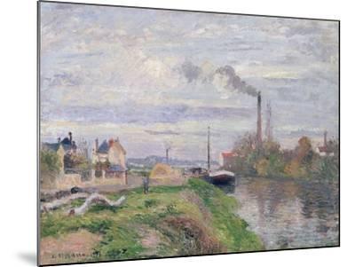Quai Du Pothuis, at Pontoise, 1876-Camille Pissarro-Mounted Giclee Print