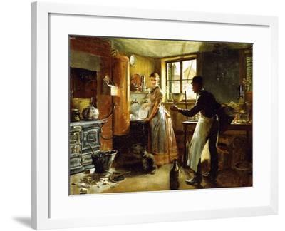 Below Stairs, 1885-Frederick Juengling-Framed Giclee Print