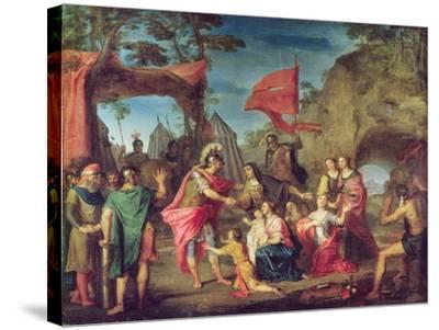 Coriolanus in the Volscian Camp, 1747-Louis Galloche-Stretched Canvas Print