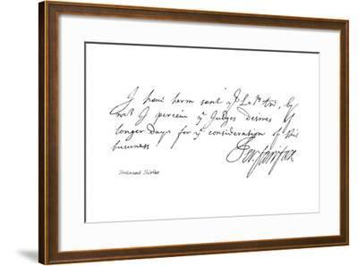 Ferdinand Fairfax--Framed Giclee Print