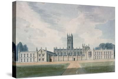 Magdalen College, Oxford, 1804-John Buckler-Stretched Canvas Print