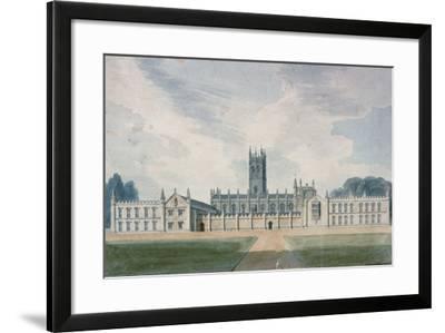 Magdalen College, Oxford, 1804-John Buckler-Framed Giclee Print