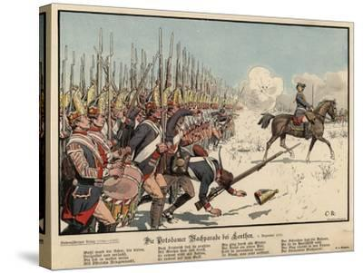 Prussian Infantry at the Battle of Leuthen-Carl Rochling-Stretched Canvas Print