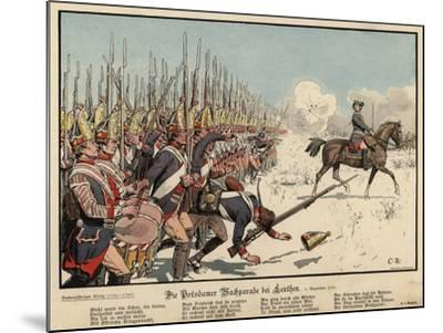 Prussian Infantry at the Battle of Leuthen-Carl Rochling-Mounted Giclee Print