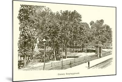 Granary Burying-Ground--Mounted Giclee Print