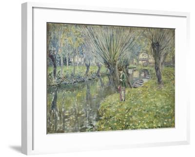 By the River-Frederick Carl Frieseke-Framed Giclee Print