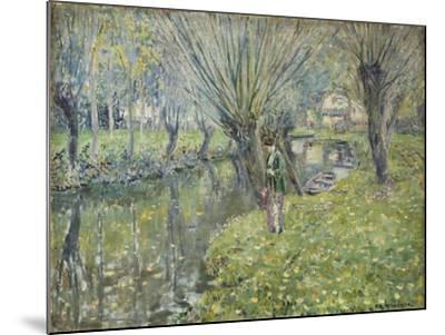 By the River-Frederick Carl Frieseke-Mounted Giclee Print