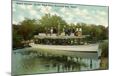 Up the Miami River Excursion Boat Sallie, C.1910--Mounted Giclee Print