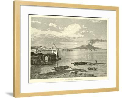 Naples, with Vesuvius, from Posilippo--Framed Giclee Print