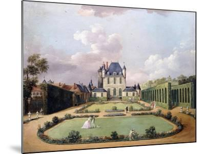 Views of the Chateau De Mousseaux and its Gardens-Jean-Francois Hue-Mounted Giclee Print