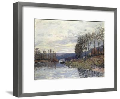 The Seine at Bougival, 1873-Alfred Sisley-Framed Giclee Print